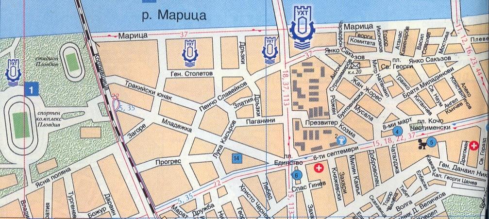 карта на УХТ - Пловдив